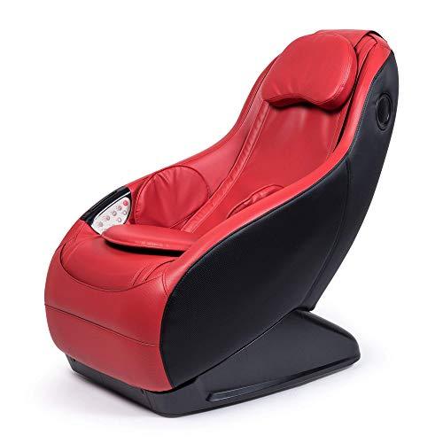 GURU® Fauteuil de massage et relax - Rouge (mod. 2020) – 3 modes massage – Son surround 3D - Fauteuil massant avec fonction Bluetooth et port USB - Garantie Officielle 2 ANS…