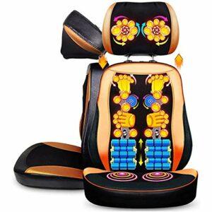 ZHJBD Worth Having – Coussin de siège de Massage Shiatsu – Modes de Dos 2D / 3D 2-en-1 Massager avec Chaleur, Chaise de Massage Shiatsu Coussin de siège, Masseur de Dos et Cou